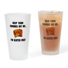 Crumbs Off Me Gluten Free Drinking Glass
