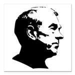 "Ron Paul Profile Square Car Magnet 3"" x 3&quo"