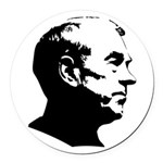 Ron Paul Profile Round Car Magnet
