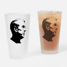 Ron Paul Profile Drinking Glass