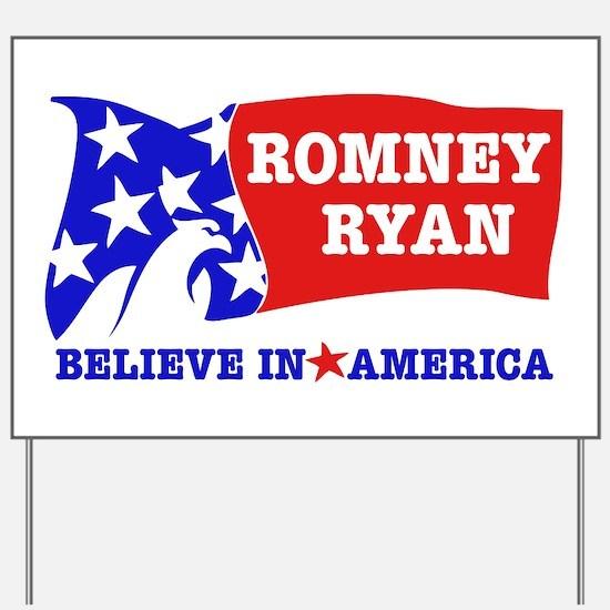 Romney Ryan Eagle Flag 2012 Yard Sign