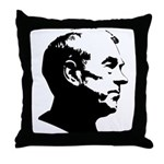 Ron Paul Profile Throw Pillow