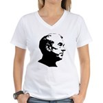 Ron Paul Profile Women's V-Neck T-Shirt