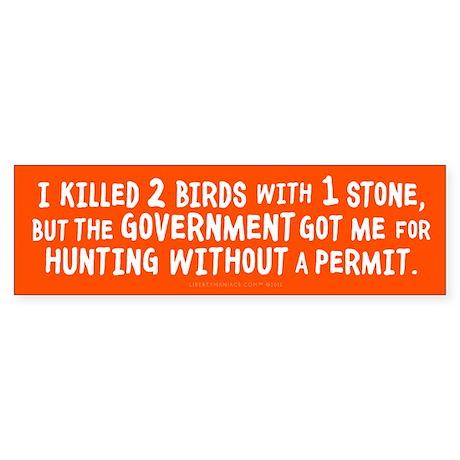 2 Birds and a Permit Sticker (Bumper)