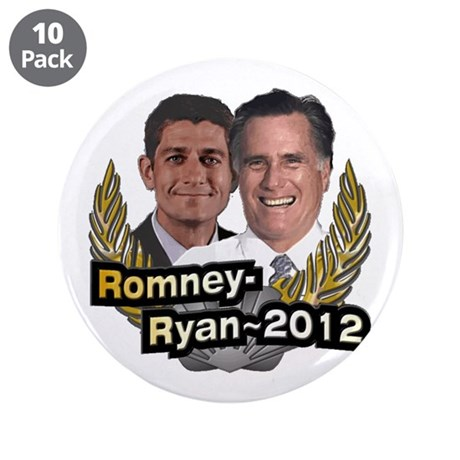 "Romney Ryan 2012 3.5"" Button (10 pack)"