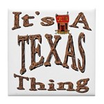 Texas Tile Coaster