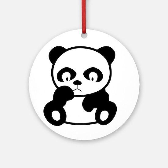 Sad Panda Ornament (Round)