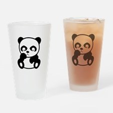 Sad Panda Drinking Glass