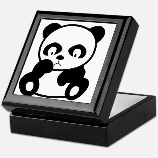 Sad Panda Keepsake Box