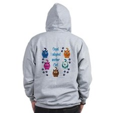 Oops! I Adopted Another Cat! Zip Hoodie