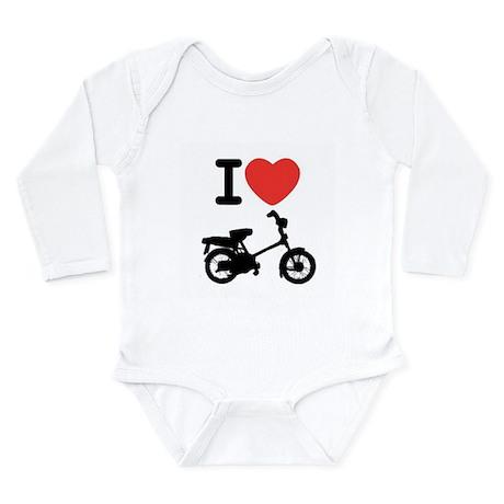 I Heart Mopeds Long Sleeve Infant Bodysuit
