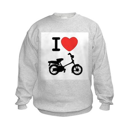 I Heart Mopeds Kids Sweatshirt