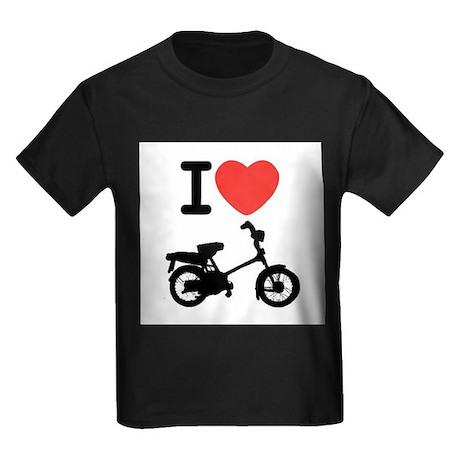 I Heart Mopeds Kids Dark T-Shirt