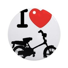 I Heart Mopeds Ornament (Round)
