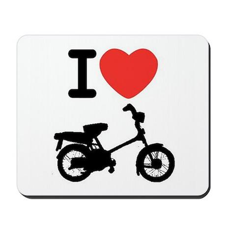 I Heart Mopeds Mousepad