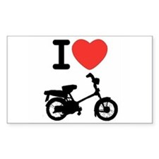 I Heart Mopeds Decal