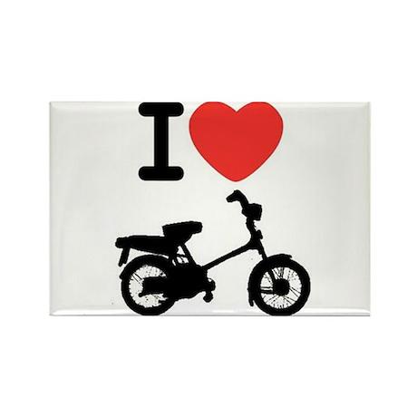 I Heart Mopeds Rectangle Magnet