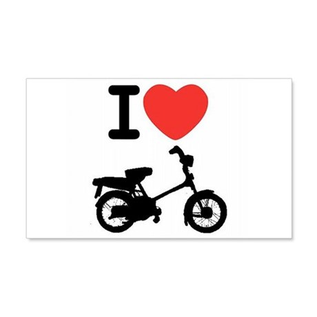 I Heart Mopeds 20x12 Wall Decal