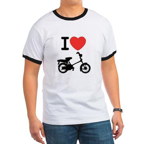 I Heart Mopeds Ringer T