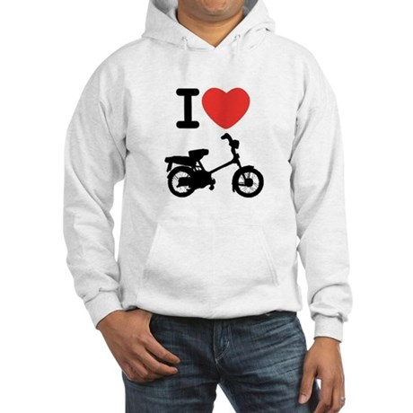 I Heart Mopeds Hooded Sweatshirt