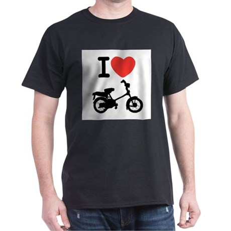 I Heart Mopeds Dark T-Shirt