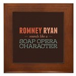 Romney Ryan Soap Opera Framed Tile