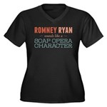 Romney Ryan Soap Opera Women's Plus Size V-Neck Da