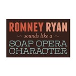 Romney Ryan Soap Opera 35x21 Wall Decal