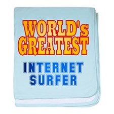 World's Greatest Internet Surfer baby blanket