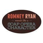 Romney Ryan Soap Opera Sticker (Oval 50 pk)