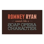 Romney Ryan Soap Opera Sticker (Rectangle)