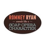 Romney Ryan Soap Opera 20x12 Oval Wall Decal