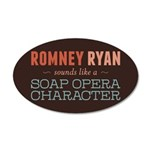 Romney Ryan Soap Opera 35x21 Oval Wall Decal