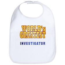 World's Greatest Investigator Bib