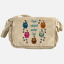 Oops! I Adopted Another Cat! Messenger Bag