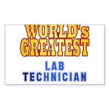 World's Greatest Lab Technician Decal