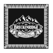 Breckenridge Mountain Emblem Tile Coaster