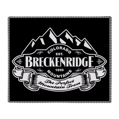 Breckenridge Mountain Emblem Throw Blanket