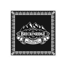 "Breckenridge Mountain Emblem Square Sticker 3"" x 3"
