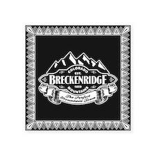 "Breckenridge Mountain Emblem Square Sticker 3"" x 3"