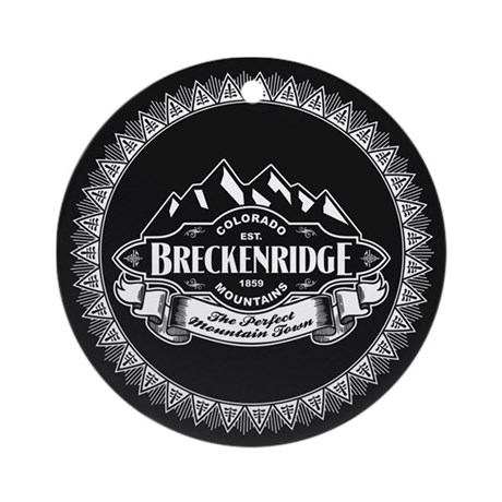 Breckenridge Mountain Emblem Ornament (Round)