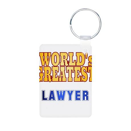 World's Greatest Lawyer Aluminum Photo Keychain