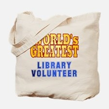 World's Greatest Library Volunteer Tote Bag