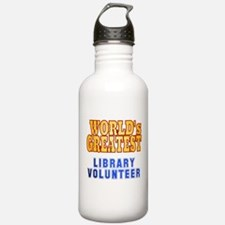 World's Greatest Library Volunteer Water Bottle