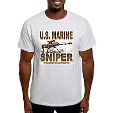 Marine Sniper Ash Grey T-Shirt