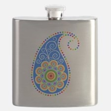 Colorful Paisley Flask