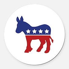 Democrat Donkey Round Car Magnet