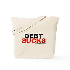 Debt Sucks Red Clear Tote Bag