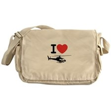 I Heart Helicopter Messenger Bag
