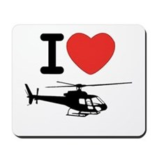 I Heart Helicopter Mousepad